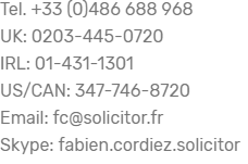 Fabien Cordiez, French Lawyer and Solicitor